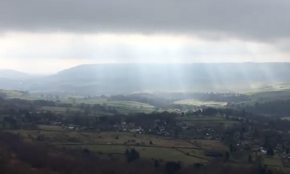 Derbyshire Hope Valley sun rays