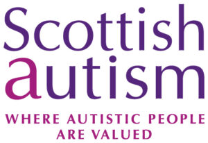 Scottish Autism logo text where autistic people are valued